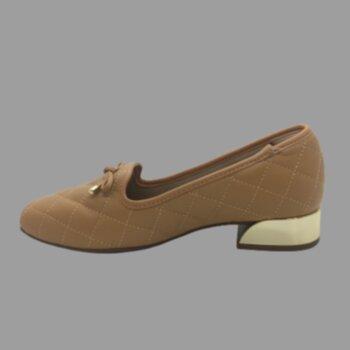 P- Sapato Fem Casual Det. Salto Quadrado Napa Pele Strech Modare